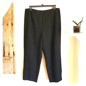 Eileen Fisher black stretch zip ankle pants 3X